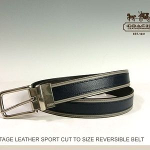 COACH~HERITAGE LEATHER REVERSIBLE BELT